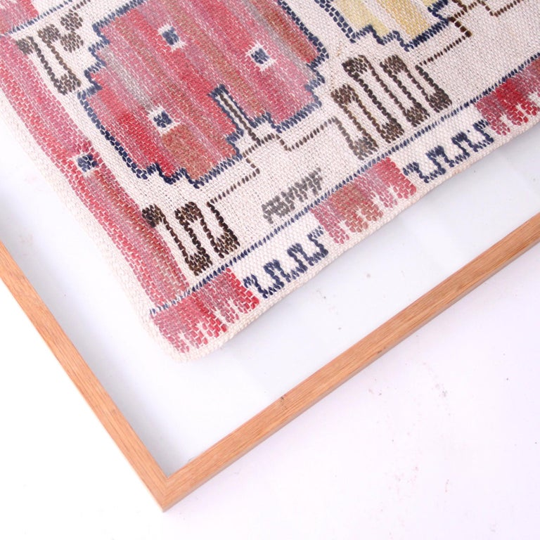 Marta Maas-Fjetterström Framed Handwoven Wall Tapestry For Sale 1