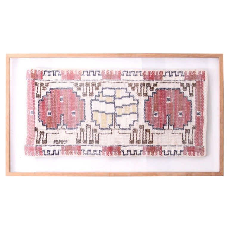 Marta Maas-Fjetterström Framed Handwoven Wall Tapestry For Sale