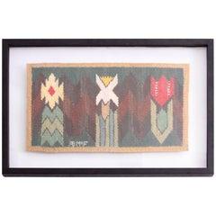 Marta Maas-Fjetterström Framed Handwoven Wall Tapestry