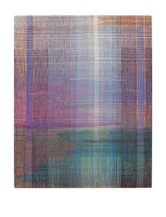 In Between Words III - Abstract Landscape,Contemporary Woven and Painted Artwork
