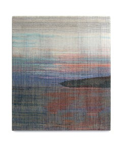 Wolin - Abstract Landscape, Contemporary Woven and Painted Artwork