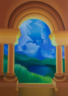A mystery of the lake - XXI Century, Contemporary Acrylic Painting, Colorful