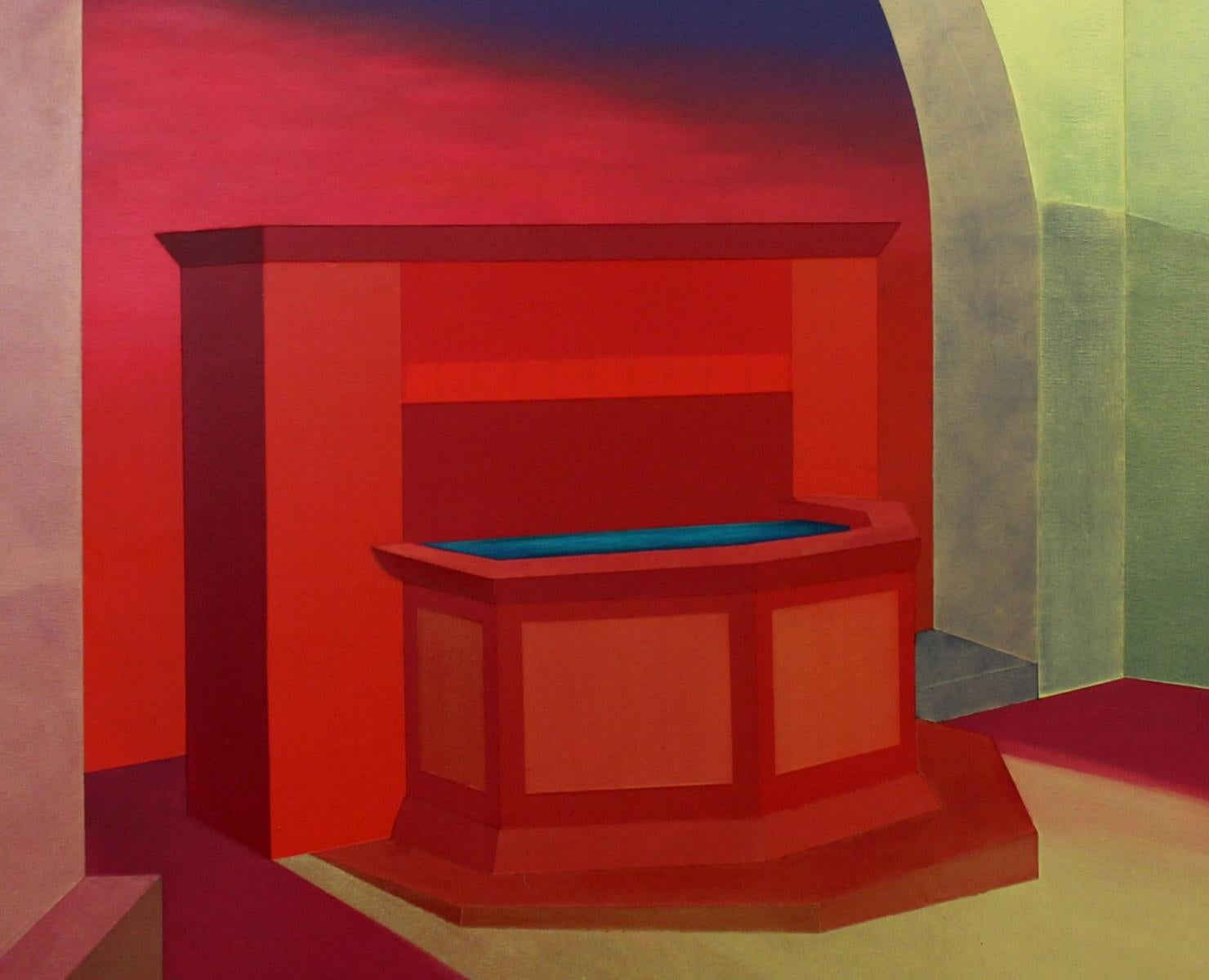 A source - XXI Century, Contemporary Acrylic Architecture Painting, Colorful