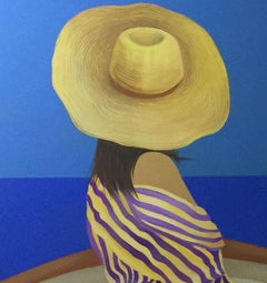 At the seaside - XXI Century, Contemporary Figurative Acrylic Painting, Colorful
