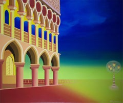 San Marco Square -  XXI Century,Figurative Acrylic Painting, Pop art, Surrealism