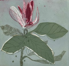 Magnolia 10 - Contemporary Figurative Drypoint Etching Print, Flower, Floral