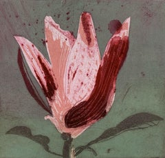 Magnolia 11 - Contemporary Figurative Drypoint Etching Print, Flower, Floral