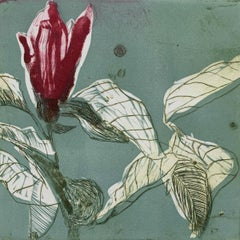 Magnolia 9 - Contemporary Figurative Drypoint Etching Print, Flower, Floral