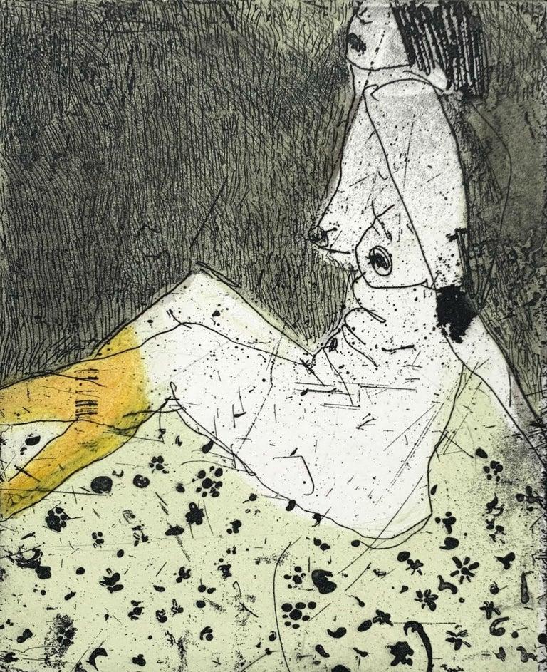 Marta Wakula-Mac Figurative Print - Nude 3 - 21 Century, Contemporary Figurative Etching Print, Female