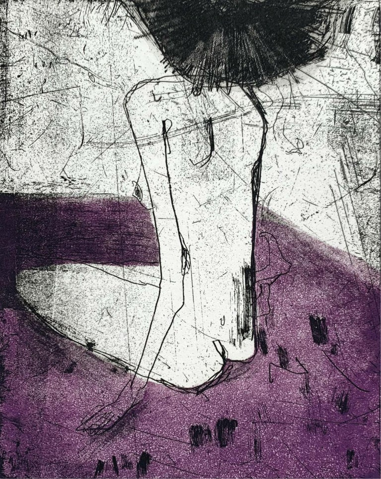 Marta Wakula-Mac Figurative Print - Nude 4 - 21 Century, Contemporary Figurative Etching Print, Female