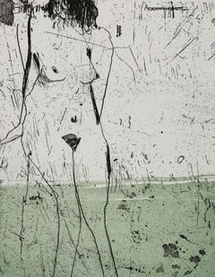 Nude 2 - 21 Century, Contemporary Figurative Etching Print, Female