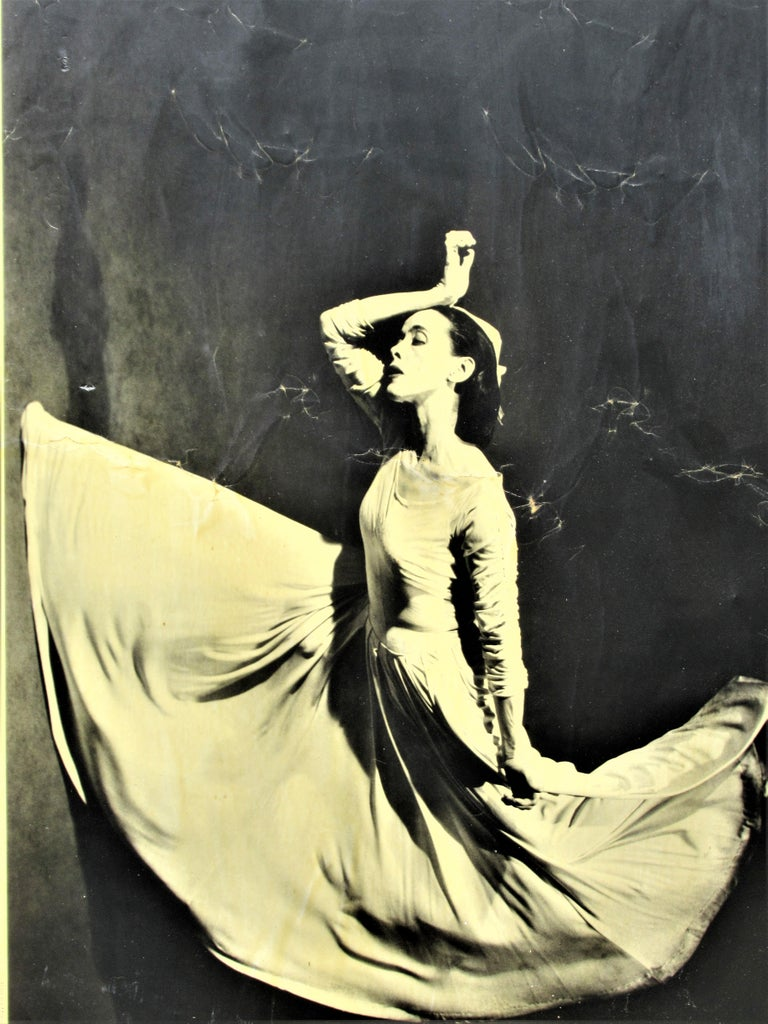 Plywood Martha Graham, Letter to the World, Barbara Morgan, 1969 For Sale