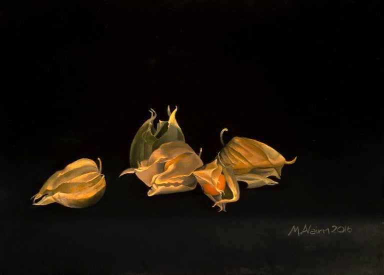 Martha Nairn Still-Life Painting - Physalis original painting realist