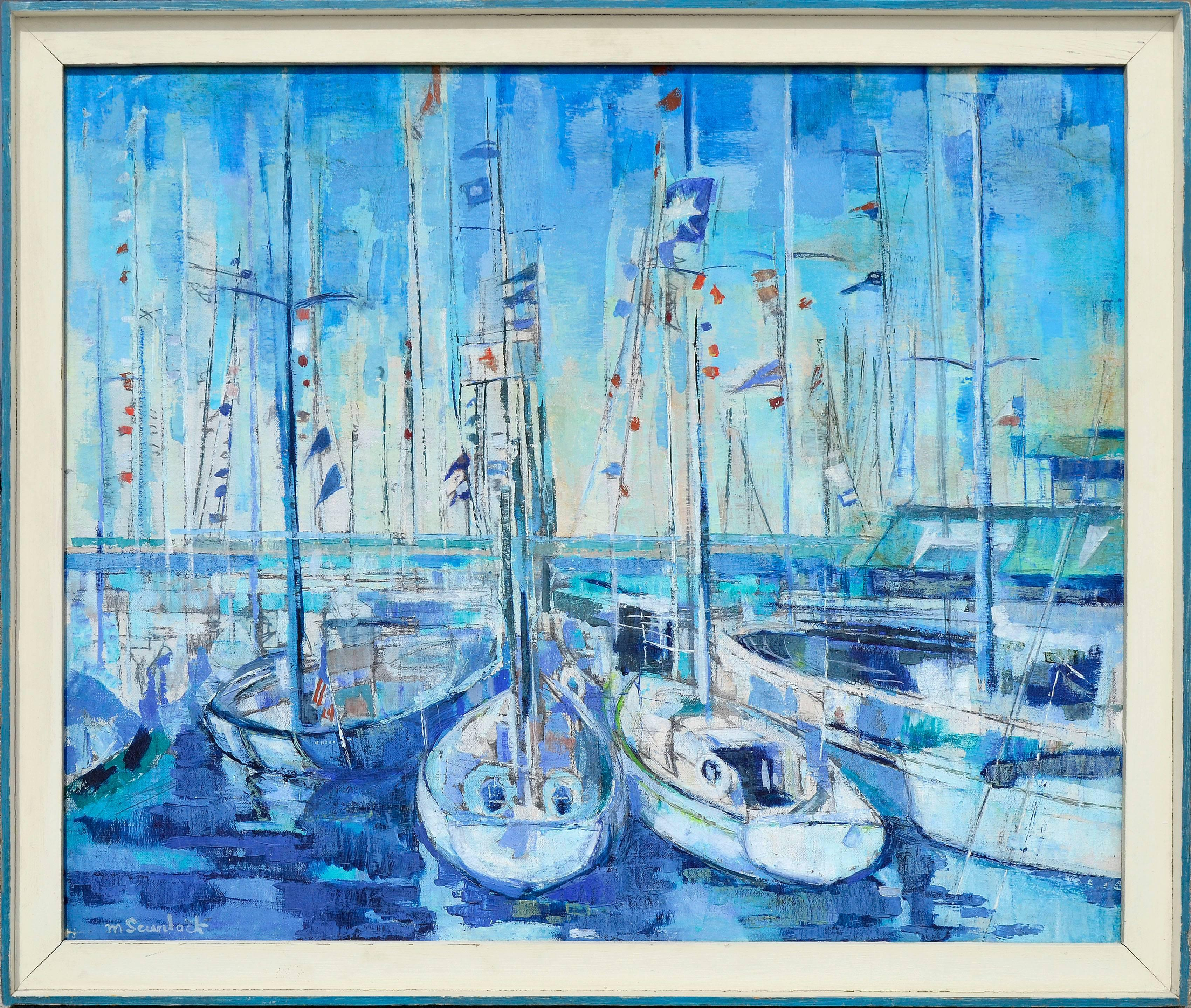 Harbor in Blue - Abstracted Landscape