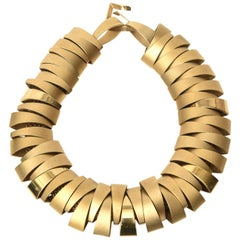 Martha Sturdy Sculptural Gold Plated Necklace
