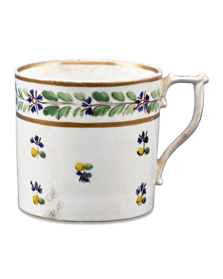 Charming and delicate, these Royal Crown Derby cups and saucer were owned by Martha Washington, the First Lady of the United States. It is believed that Mrs. Washington would have used these items for social events at Mount Vernon. Crafted of bone
