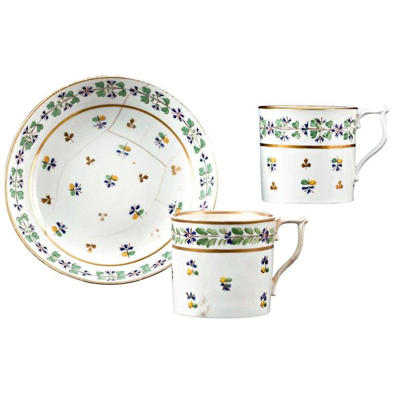 Martha Washington's Porcelain Cups and Saucer For Sale