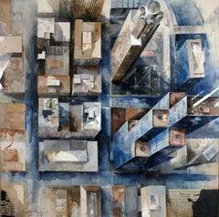 16706 - 21st Century, Contemporary, Figurative Painting, Mixed Media