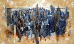 17805 Manhattan View - 21st Century, Contemporary, Figurative Painting
