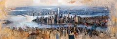 45017 Manhattan From Brooklyn - 21st Century, Contemporary, Figurative Painting