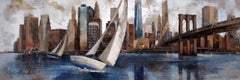 45025 Sailing In Manhattan - 21st Century, Contemporary, Figurative Painting