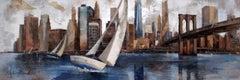 45025 Sailing In Manhattan - 21st Century, Contemporary, Figurative Painting