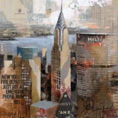 Chrysler - 21st Century, Contemporary, Figurative Painting, Mixed Media