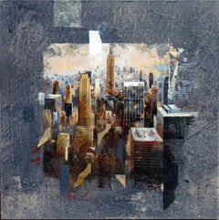 Classic Manhattan View - 21st Century, Contemporary, Figurative Painting