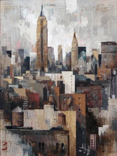 Collage under Manhattan - 21st Century, Contemporary, Figurative Painting
