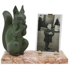 Marti Font French Art Deco Squirrel Photo Frame, circa 1930