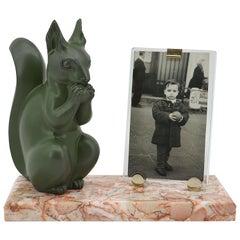 Marti Font French Art Deco Squirrel Photo Frame, circa 1930