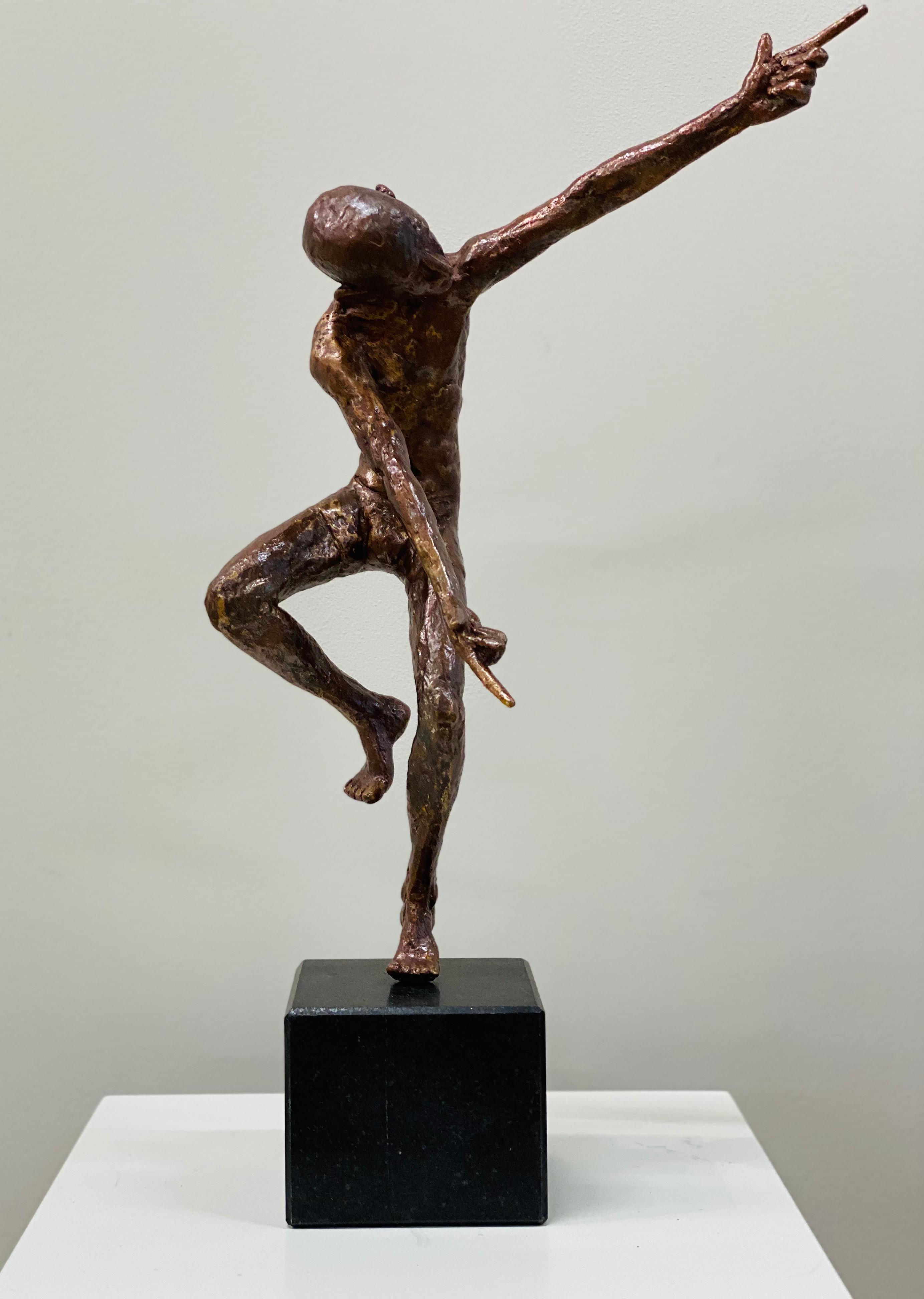 Dancer IX- 21st Century Contemporary Bronze Sculpture of a Male Nude Dancer
