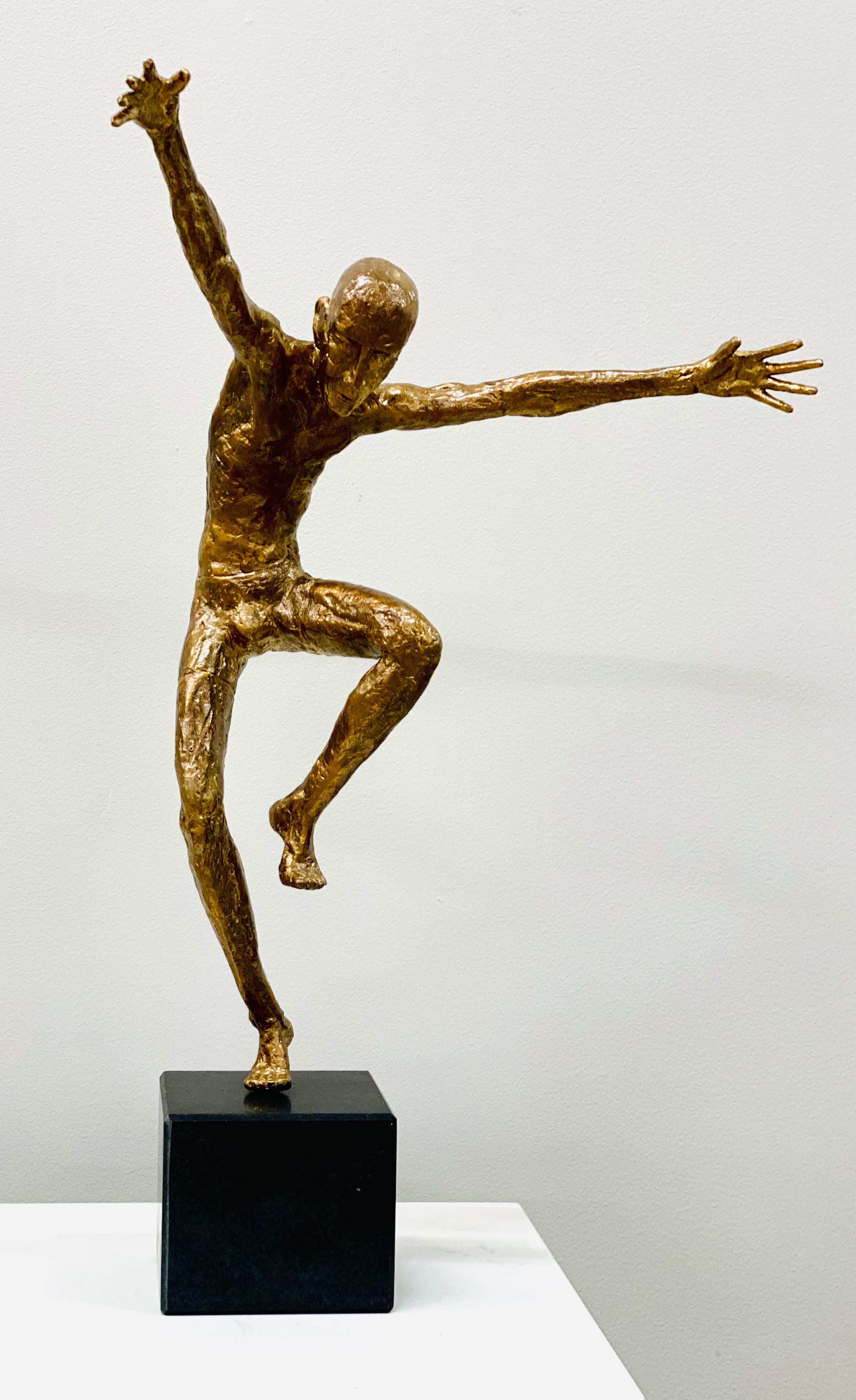Dancer V- 21st Century Contemporary Bronze Sculpture of a Male Dancer