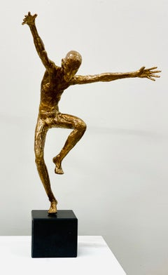 Dancer V- 21st Century Contemporary Bronze Sculpture of a Male Dancer