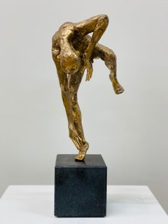 Dancer VIII- 21st Century Bronze Sculpture of a Male Nude Dancing