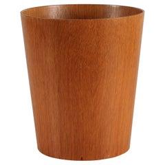 Martin Aberg Conical Wastepaper Basket of Oak Veneer by Sevex Sweden Mid-Century
