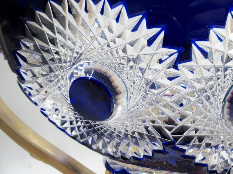 Martin Benito France Centerpiece Cobalt Crystal Dore Bronze Swans For Sale 4