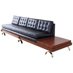 Martin Borenstein Challenge Series Walnut Gondola Sofa