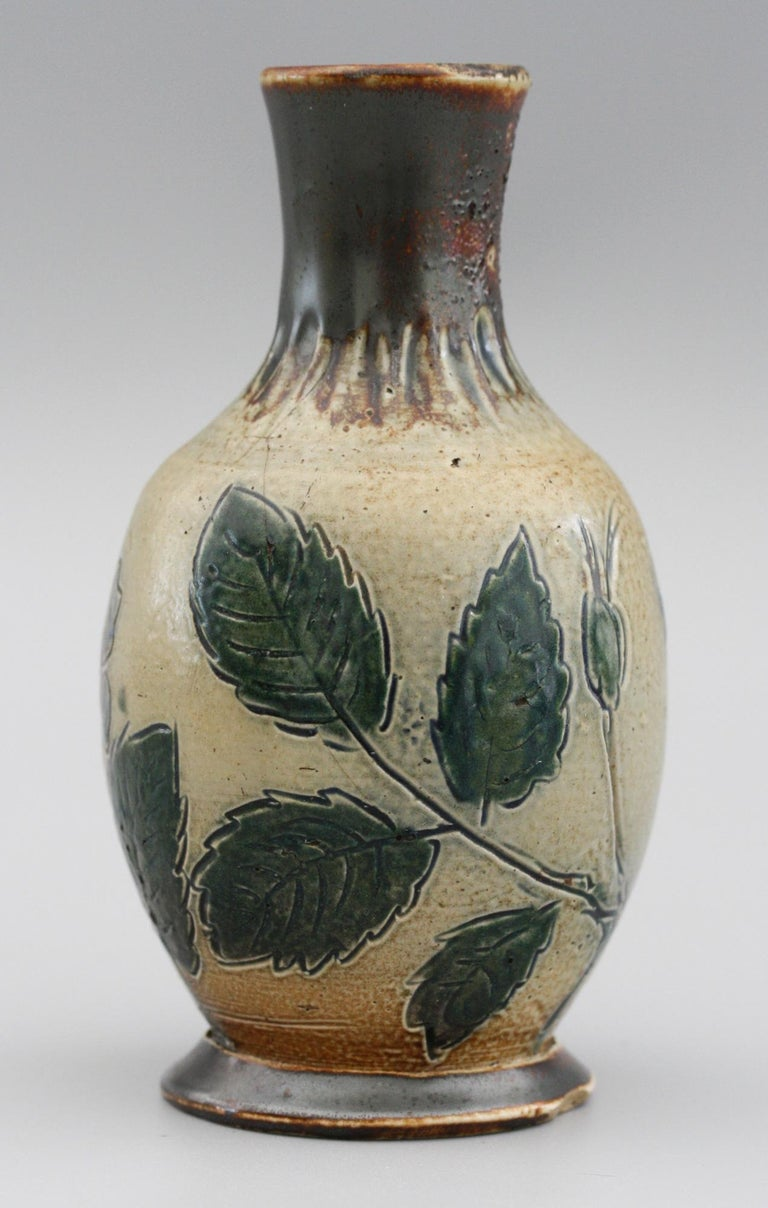 Martin Brothers Art Pottery Dog Rose Vase, 19th Century For Sale 3