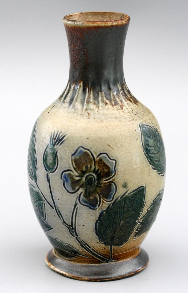 Martin Brothers Art Pottery Dog Rose Vase, 19th Century For Sale 2