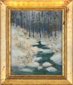 Stream in Winter - Landscape