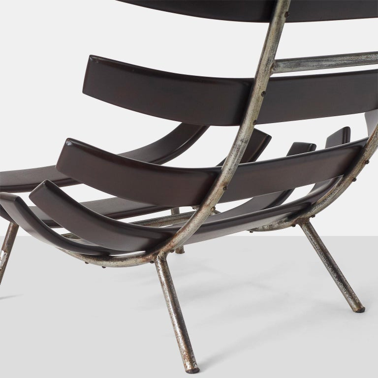 Iron Martin Eisler and Carlo Hauner Costela Chair For Sale