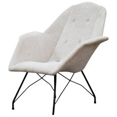 Martin Eisler and Carlo Hauner Rare 'Concha' Armchair for Forma Brazil, 1950s