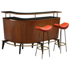 Martin Eisler for Forma Dry Bar with Bar Stools