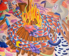 """Martín Ferreyra, """"Fuego serpiente transformación"""", Figurative, pre-hispanic"""