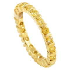 Martin Flyer 18 Karat Yellow Gold Yellow Diamond Eternity Band