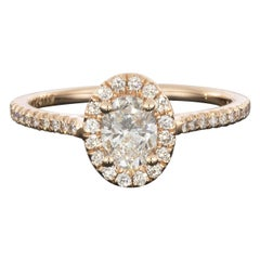 Martin Flyer Rose Gold GIA Certified Oval Diamond Halo Engagement Ring