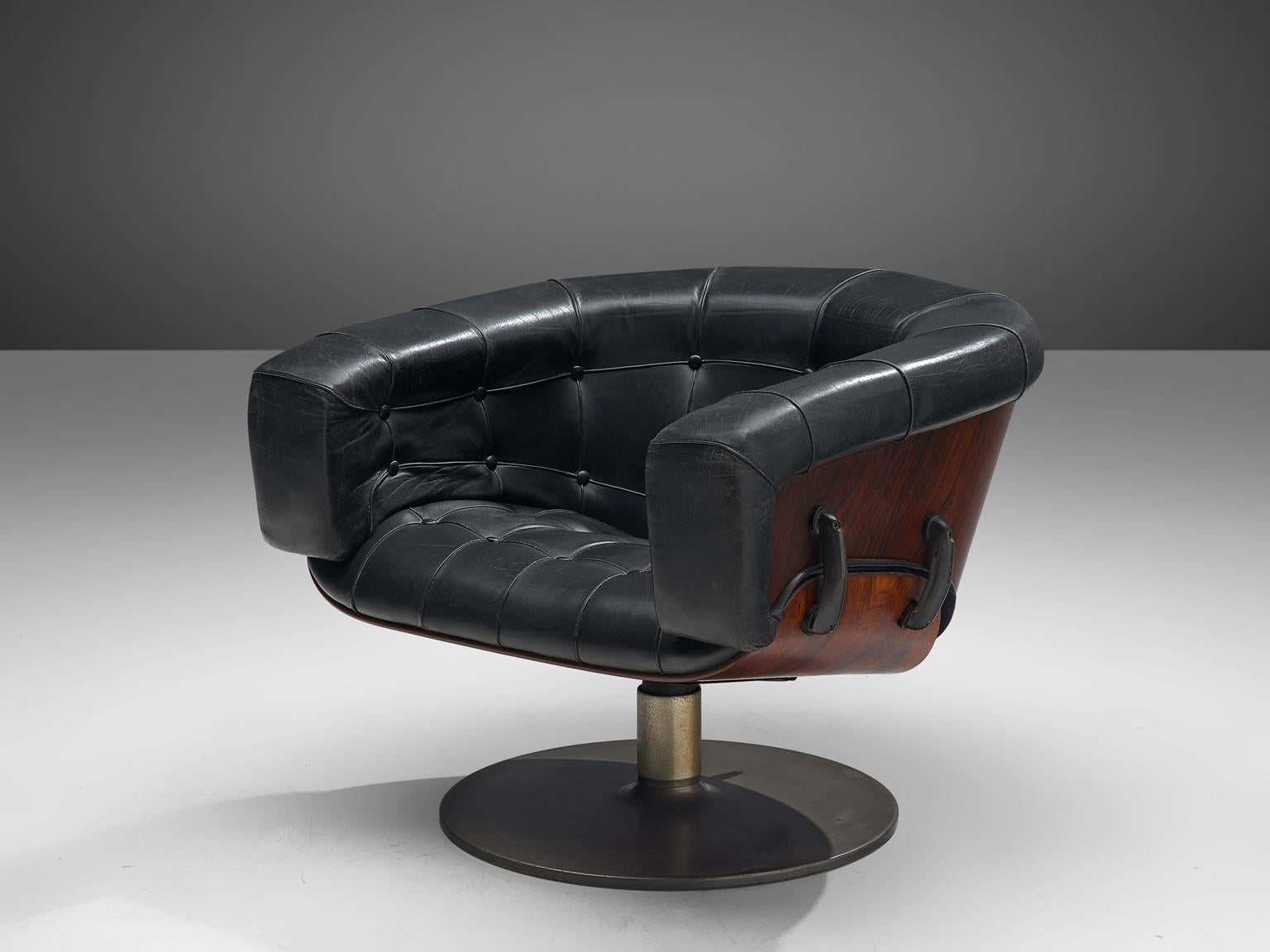 Martin Grierson 'London' Chair in Leather and Rosewood
