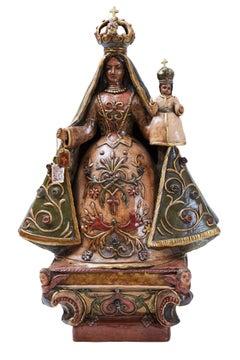 La Virgen del Carmen, Pottery & Ceramics, Mexican Folk Art, Cactus Fine Art