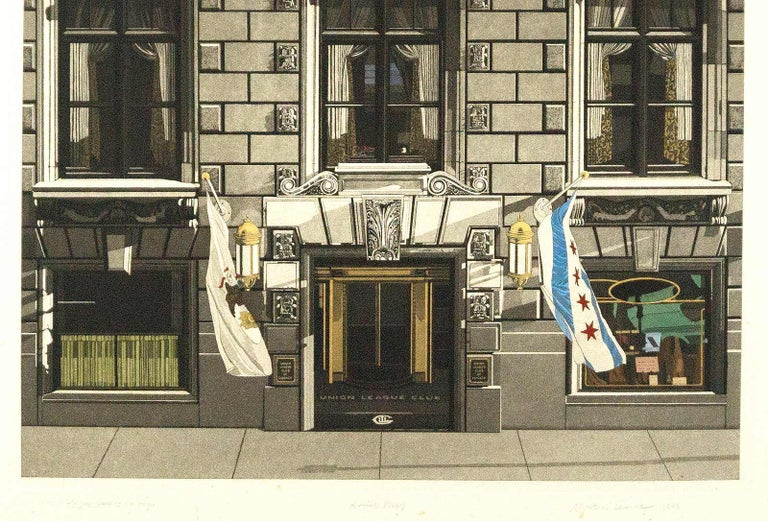 Union League Club of Chicago - Print by Martin Levine